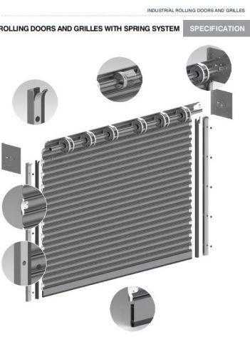 Роловые ворота с навальным приводом и пружинами r1 ssg