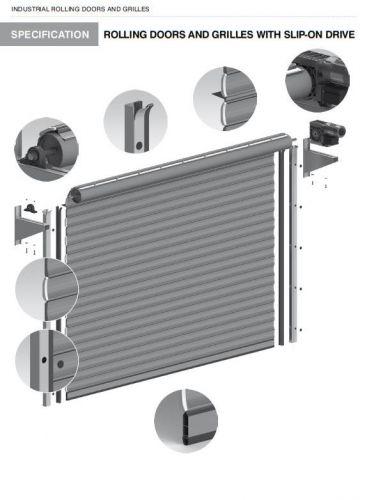 Роловые промышленные ворота с боковым приводом r1 ssp
